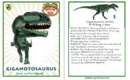 Dinosaur train giganotosaurus card revised by vespisaurus-db7wgtj
