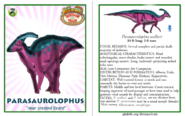 Dinosaur train parasaurolophus card revised by vespisaurus-db7ds1t