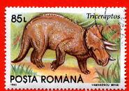 Romania1993-085L-triceratops-L