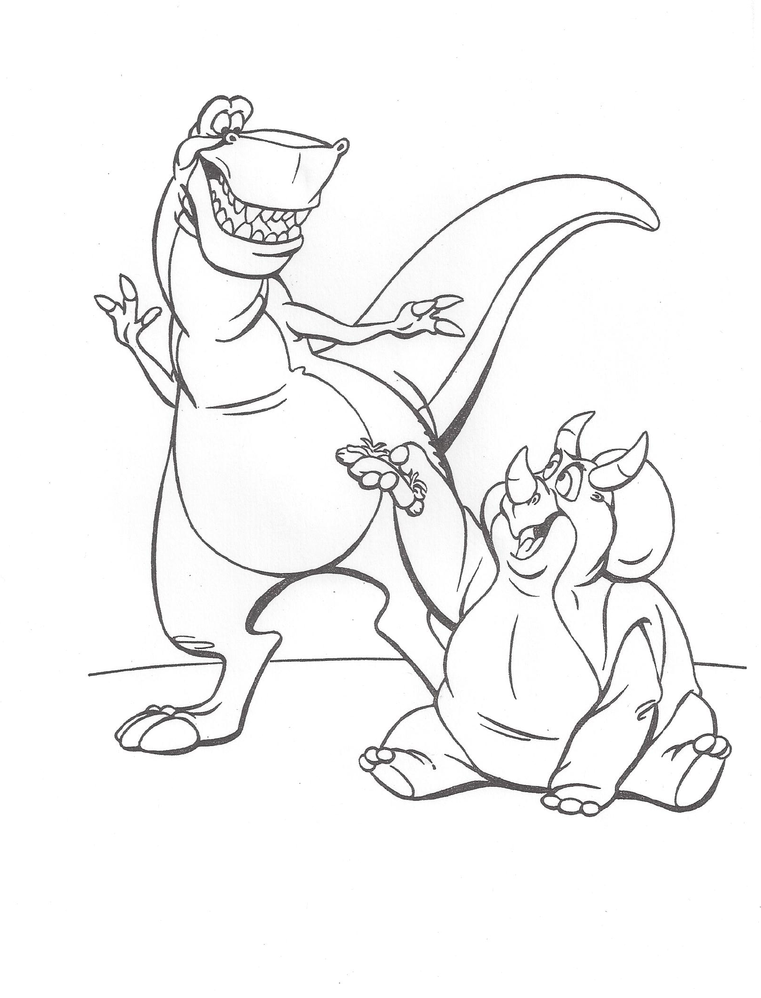 Image we 39 re back coloring page dinosaur wiki Coloring book wiki
