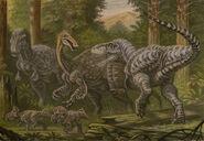 Tarbosaurus deinocheirus protoceratops by abelov2014-dbj7b81