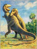 1920s CharlesKnight tyrannosaurus battle