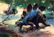 Stegosaurus by zdenek burian 1941