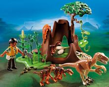 PLAYMOBIL Deinonychus and Velociraptors