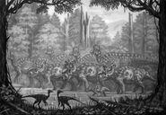 Corythosaurus pachyrhinosaurus troodon by abelov2014-d9f62ho
