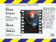Eius Draco Audition Sheet