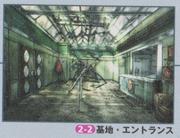 Dino Crisis 2 Official Guide book - Military Facility Entrance concept art