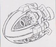 Dino Crisis 3 concept art - Juggernaut 3