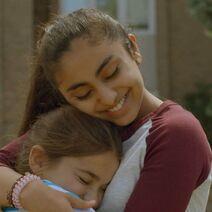 Saara hugging Dana