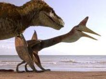 Ornithocheirus with T-Rex