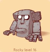 Rocky dark stare