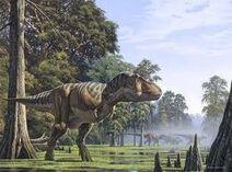 Tyrannosaurus rex hunting