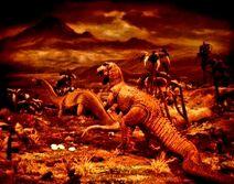 Allosaurus and Brontosaurus