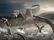 Ticinosuchus vs Nothosaurus