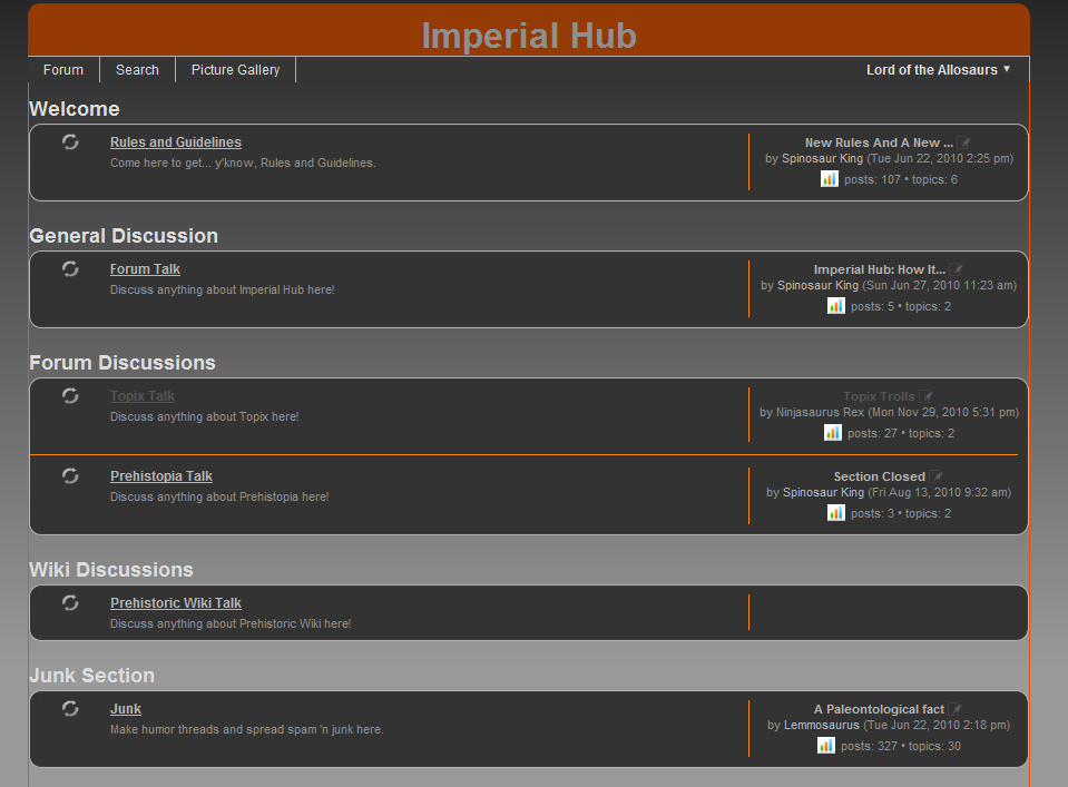 Imperial Hub   Topix Dinosaur Forum Wiki   FANDOM powered by