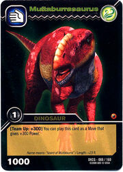Muttaburrasaurus TCG Card