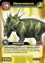 Styracosaurus TCG card