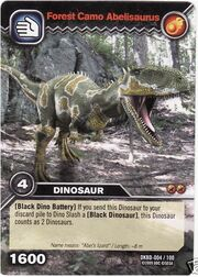 Abelisaurus-Forest Camo TCG Card