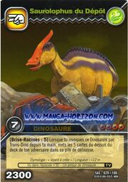 Saurolophus-Depot TCG Card (French)