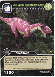 Muttaburrasaurus-Lost Valley TCG Card