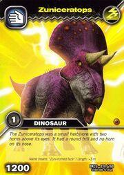 Zuniceratops TCG Card