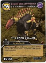 Lexovisaurus-Boulder Bash TCG Card