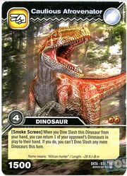 Afrovenator-Careful TCG Card (French)