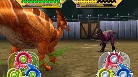 Dinosaur King Arcade Game 恐竜キング - Anatotitan & Charonosaurus VS the Alpha Fortress Final Battle