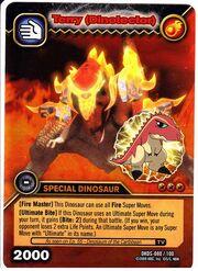 Tyrannosaurus - Terry DinoTector TCG Card 1-DKDS-Gold (German)