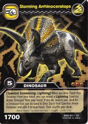 Arrhinoceratops-Storming TCG Card (German)