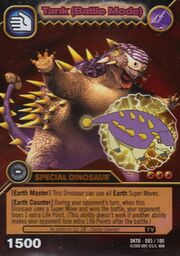 Saichania - Tank Battle Mode TCG Card 1-DKTB-Gold