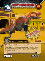 Tyrannosaurus armor TCG card