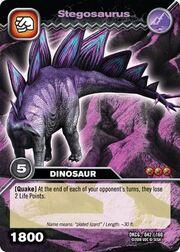 Stegosaurus TCG card