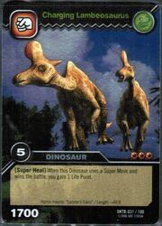 Lambeosaurus-Charging TCG Card 1-Silver