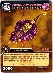 Ankylosaurus Alpha TCG Card