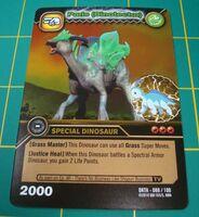 Parasaurolophus - Paris DinoTector TCG Card 3-DKTA-Gold (French)