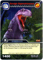 Giganotosaurus-Savage TCG Card