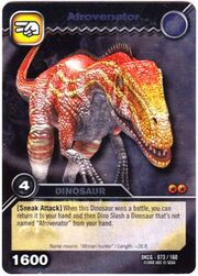 Afrovenator TCG card