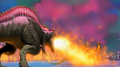 Alpha Acrocanthosaurus shooting a blast of fire