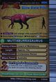 Muttaburrasaurus Card Eng S2 3rd back
