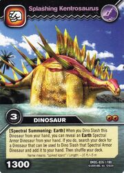 Kentrosaurus-Splashing TCG Card