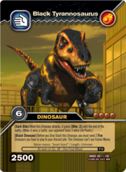 Tyrannosaurus black TCG card