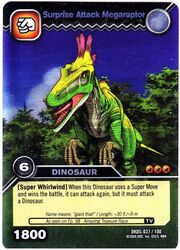 Megaraptor-Surprise Attack TCG Card 1-Silver 1b