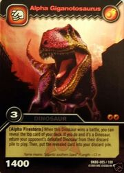 Dinosaur King Trading Card Game Alpha Giganotosaurus