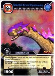Shunosaurus Spectral Armor TCG Card 1-Silver (German) 1b