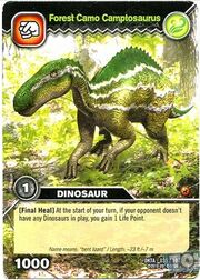 Camptosaurus-Forest Camo TCG Card (French)