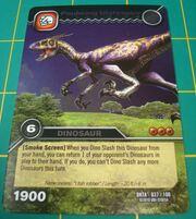 Utahraptor-Pouncing TCG Card 1-Silver (French)