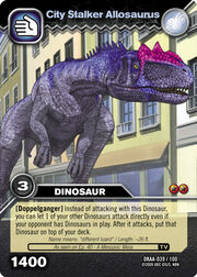 Allosaurus-City Stalker TCG Card