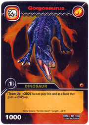 Gorgosaurus TCG card
