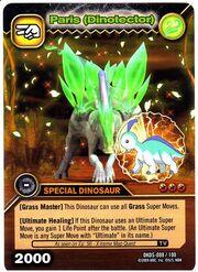 Parasaurolophus - Paris DinoTector TCG Card 1-DKDS-Gold (German)